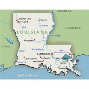 Louisiana map